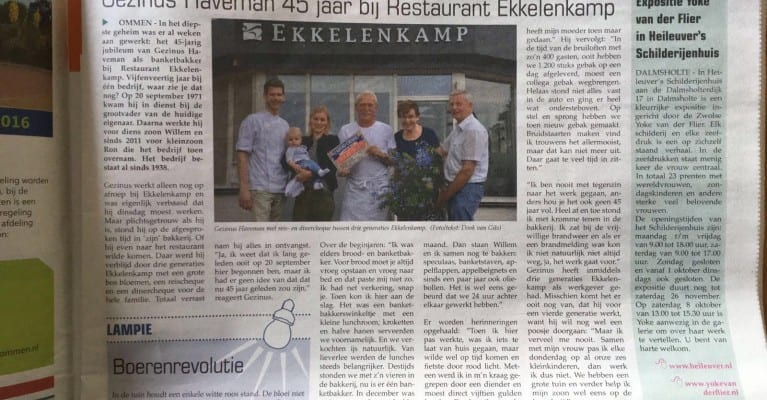 Gezinus Haveman 45 jaar banketbakker bij Ekkelenkamp