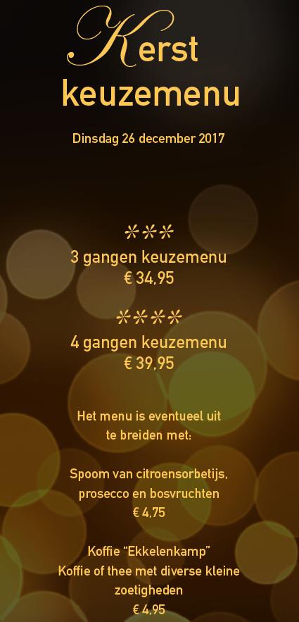 kerstmenu Ekkelenkamp deel 1